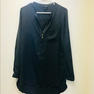 Long black blouse. Perf condition